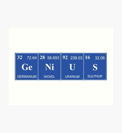 Elemental Genius - Light Lettering Art Print