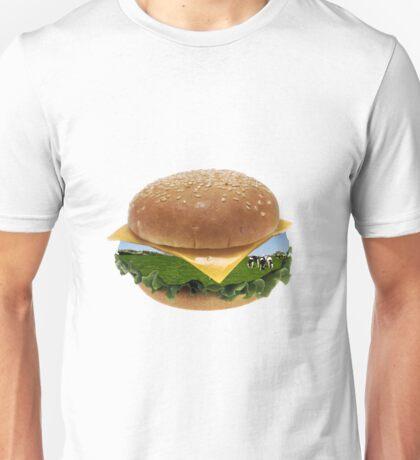 Cheeseburger Cows  Unisex T-Shirt