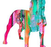 Pit Bull 3 by Watercolorsart