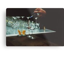 Drinks bar in party xpro cross processed c41 slide film analog photograph Metal Print