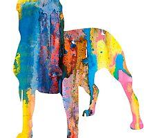 Pit Bull 4 by Watercolorsart