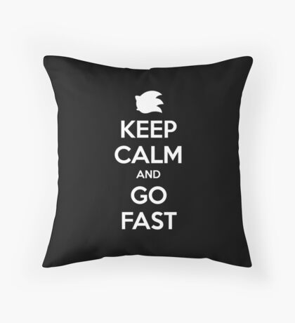Keep Calm and go Fast Throw Pillow