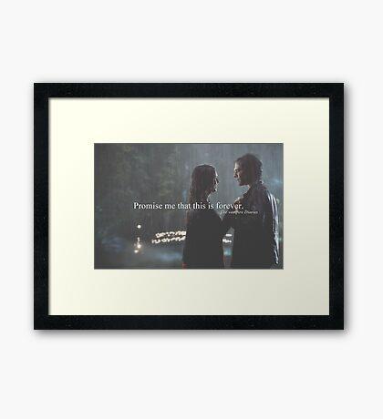 Forever. Framed Print