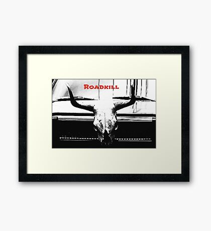 Roadkill Sinister Skull Framed Print Medium Framed Print