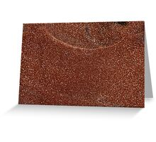 Macro photo of Goldstone glass Greeting Card