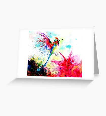 """Hummingbid"" Greeting Card"
