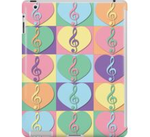 Treble Clefs and Hearts iPad Case/Skin
