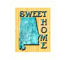 Sweet Home Alabama Typographic Map Art Art Print