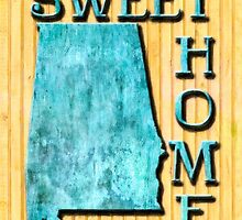 Sweet Home Alabama Typographic Map Art by Mark Tisdale
