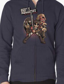 Scout Regiment Vs. The Titans Zipped Hoodie
