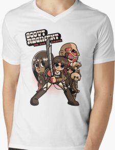 Scout Regiment Vs. The Titans Mens V-Neck T-Shirt