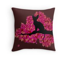 Sphynx in the Fall Throw Pillow