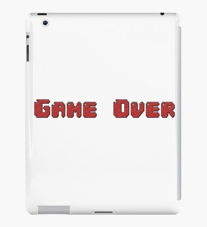 GAME OVER! Clothing, cups, and more! iPad Case/Skin