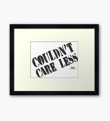 Care Less ver. 2 Framed Print