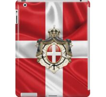 Sovereign Military Order of Malta – SMOM Coat of Arms over Flag iPad Case/Skin