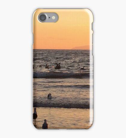 Sunset at Newport Beach iPhone Case/Skin