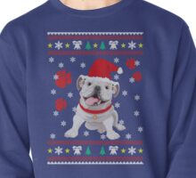 Bulldog Puppy Christmas Sweater T-shirt and gift. Pullover