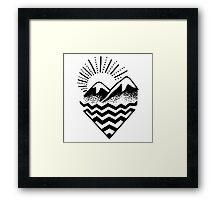 Hill Sunset Graphic Framed Print