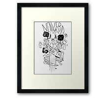 Follow the Rabbit Framed Print
