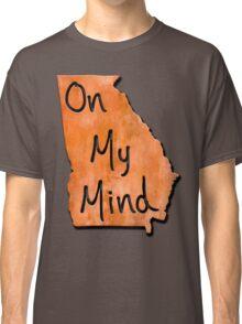 Georgia On My Mind Rustic Map Art Classic T-Shirt