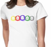 Mood Swings - Cool Colors Womens Fitted T-Shirt