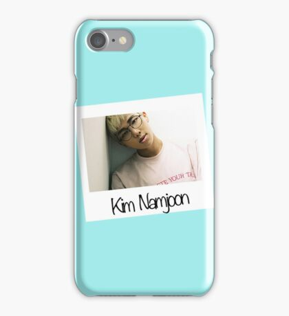 Rap Monster Polaroid (Blue)-BTS iPhone Case/Skin