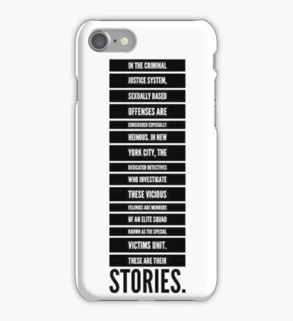 svu intro 4 iPhone Case/Skin