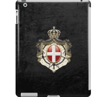 Sovereign Military Order of Malta Coat of Arms over Black Velvet iPad Case/Skin