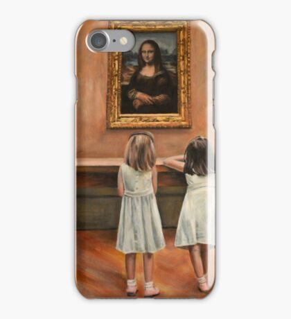 Watching Mona Lisa iPhone Case/Skin