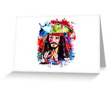 """Captain Jack Sparrow"" Greeting Card"