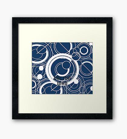 Doctor Who - Gallifreyan Framed Print