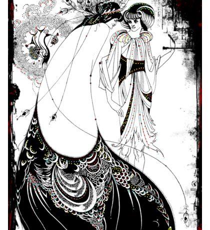 Nouveau Woman in Peacock Skirt  Sticker