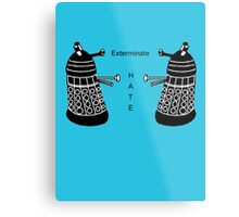 Surprisingly Positive Daleks Metal Print