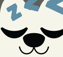 Siberian Husky Emoji Sleepy and ZZZ Look Sticker