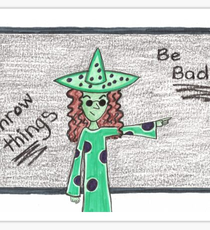 Teacher Witch 'Be Bad' Sticker