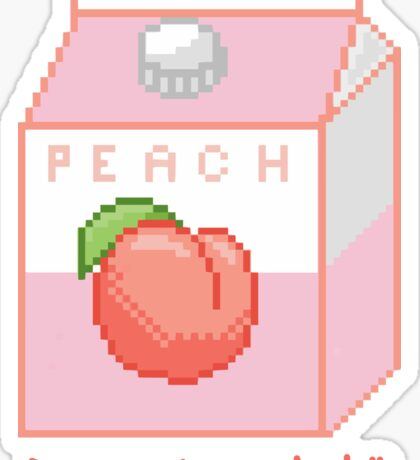 Peach Juice Harajuku Sticker
