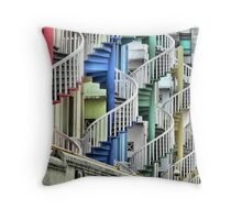 To Go Up or Down in Circles in Singapore. Throw Pillow