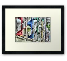 To Go Up or Down in Circles in Singapore. Framed Print