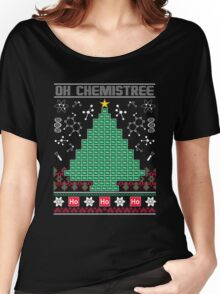 Chemist Element Oh Chemistree Ugly Christmas Sweater T-Shirt Women's Relaxed Fit T-Shirt