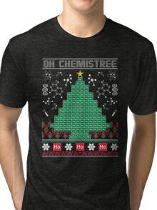 Chemist Element Oh Chemistree Ugly Christmas Sweater T-Shirt Tri-blend T-Shirt