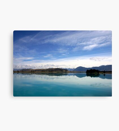Lake Ruataniwha, New Zealand landscape 2 Canvas Print
