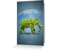 Polygon Elephant Greeting Card