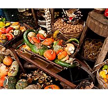 In the Autumn Market Photographic Print