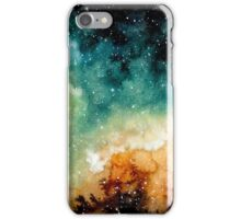 Watercolor Bright Yellow Nebula iPhone Case/Skin