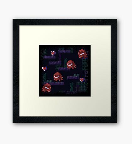 Monoeyes Framed Print