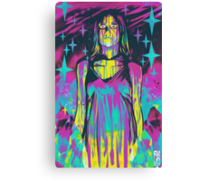 Neon Horror: Carrie Canvas Print