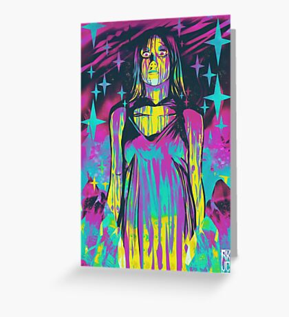 Neon Horror: Carrie Greeting Card