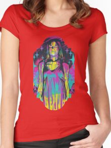 Neon Horror: Carrie Women's Fitted Scoop T-Shirt