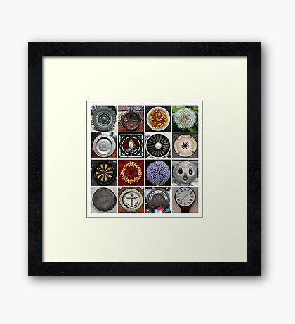 16 Round Things Framed Print