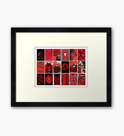 18 Red Things Framed Print